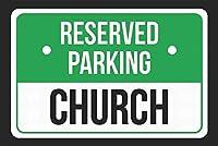 185グレートティンサインアルミニウム予約駐車場教会屋外&屋内サイン壁の装飾12x8インチ