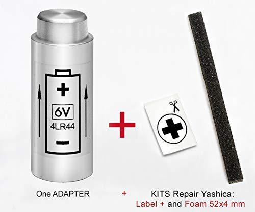 Adaptador DE BATERIA para Yashica Electro 35 (G, GL, GS, GT, GSN, GTN), MG-1 y AX + Kit