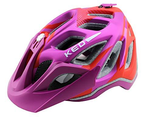 K-E-D KED Fahrradhelm Trailon, Größe L, Kopfumfang 56-62 cm, Violet Red Matt, Extrem gut belüfteter All-Mountain Helm in robuster maxSHELL®- Technologie - Made in Germany