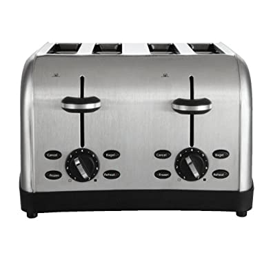 Oster 4-Slice Toaster, Brushed Metal (TSSTTRWF4S-SHP)