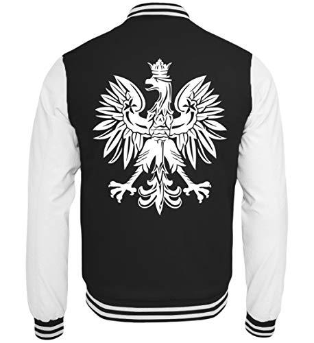 Hochwertige College Sweatjacke - Wappen Polen Polnische Flagge Polska Adler Fahne Geschenk