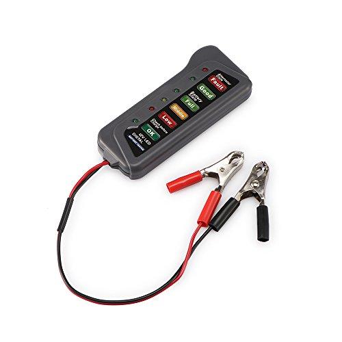 Probador del alternador de la batería, motocicleta del coche de 12V Probador del alternador de la batería del LED Digital - Condición de la batería
