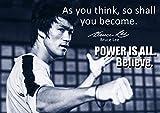 # 63 Poster mit Bruce-Lee-Aufdruck, mit motivierendem