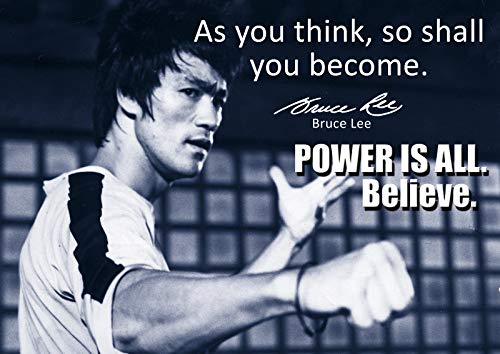 Bruce Lee–# 63–Einzigartiges Motivational–Inspirierende–Berühmten Bruce Lee Quotes Poster–A3Poster–Zitat Zeichen Poster Kunstdruck Bild, Bodybuilding, Boxen, Martial Arts,