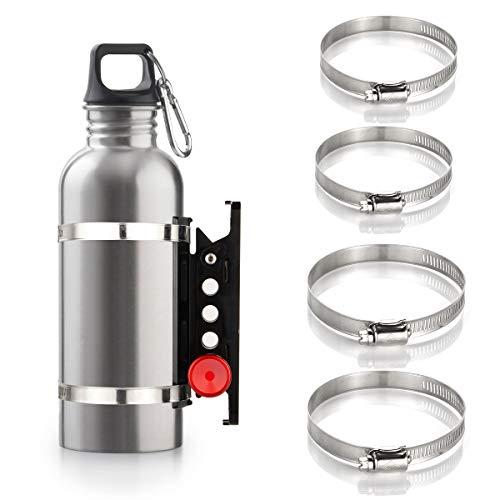 Adjustable Fire Extinguisher Mount Holder with 4 Clamps Quick Release Fire Extinguisher Bracket for Wrangler JK TJ CJ Rubicon JL UTV Polaris RZR Ranger (Aluminum)