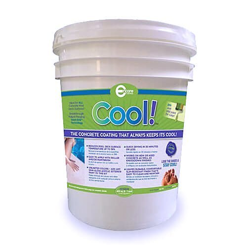 Cool Decking Pool Deck Paint - Coating for Concrete and Decks - Waterproof Concrete Paint that Repairs, Seals, and Cools Your Pool Deck Surfaces - Covers 150 Square Feet of Deck