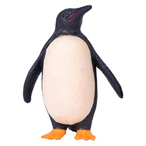 TOYANDONA 1 Juego Pingüinos Simulados Figura de Acción Adornos de Juguete Mini Pingüino de Plástico Micro Paisaje Adorno para Niños Blanco