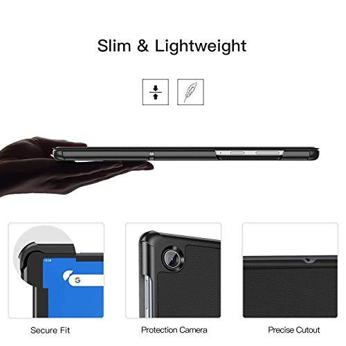 ZtotopCase Hülle für Lenovo Tab M10 FHD Plus 10.3,Ultra Slim Leicht, Trifold Stand Smart Case Hard Cover für Lenovo Tab M10 Plus FHD 26,2 cm 10,3 (2nd Gen) TB-X606F/TB-X606X,Schwarz