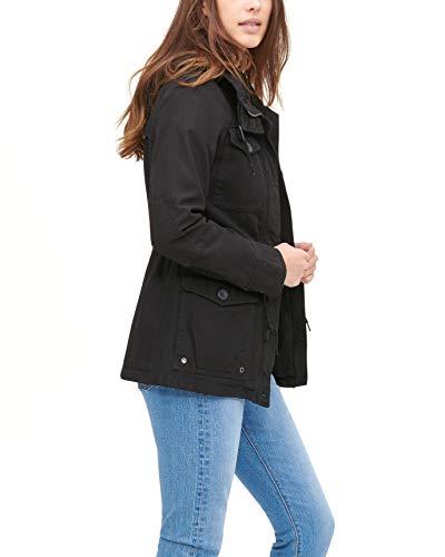 Levi's Women's Cotton Four Pocket Hooded Field Jacket, black, M