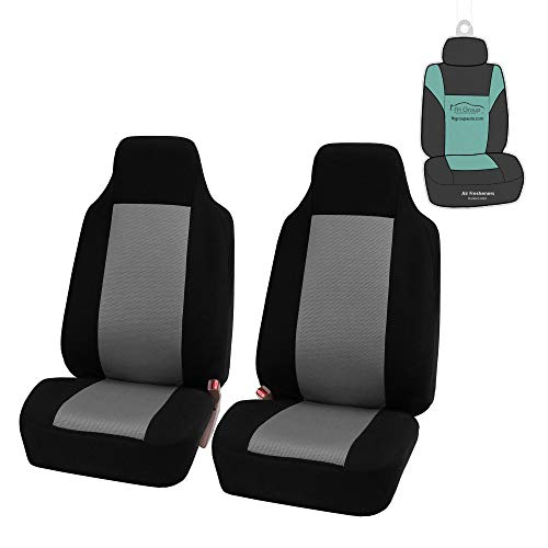 FH Group FB102 Classic High Back Seat Covers (Gray) Front Set