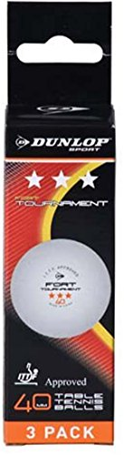 Lowest Price! DUNLOP 3 Star Ping Pong Tournament Playing Premium Table Tennis Ball Pack of 3
