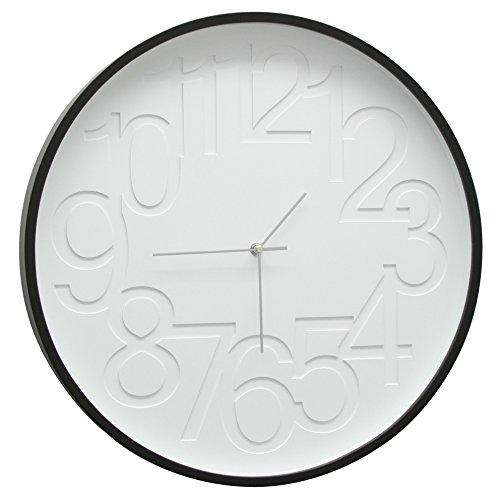 Deknudt Frames K101K2CL wandklok, rond, hout, zwart/wit, Ø 30 cm