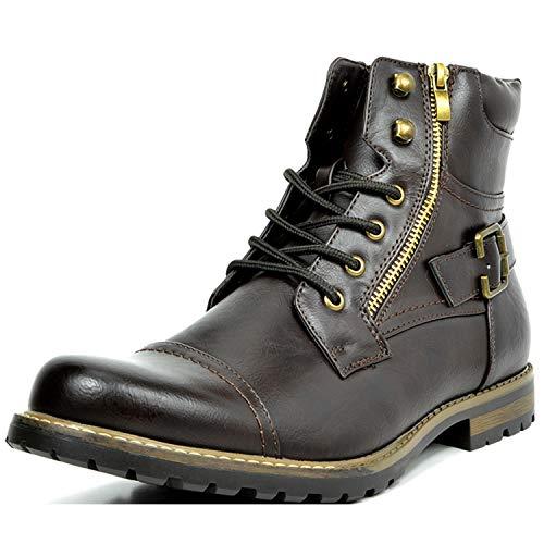 Bruno Marc Men's Philly-3 Dark Brown Military Combat Boots - 10.5 M US