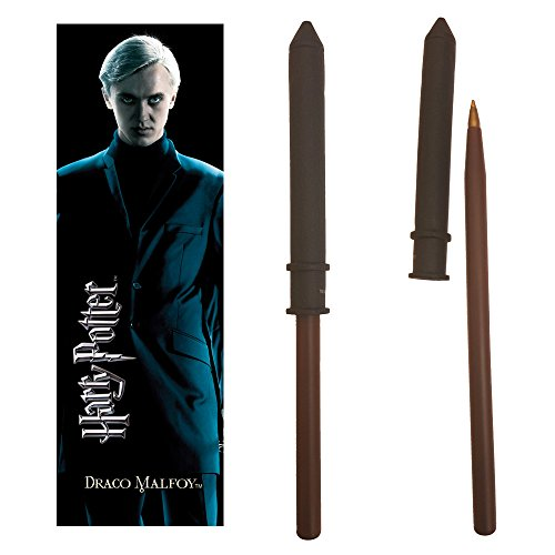 The Noble Collection Draco Malfoy Zauberstab Stift und Lesezeichen