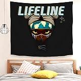 niaoyun -Apex Legends - Lifeline01-Art - Cortina de puerta para decoración del hogar, dormitorio, sala de estar, 150 x 100 cm