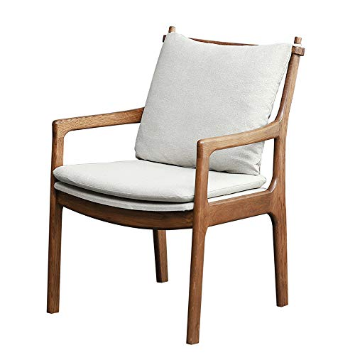 Mesa y silla de comedor de madera maciza de estilo japonés resistentes al desgaste muebles de sala de estar respaldo tocador silla reposabrazos silla de café silla de comedor de cocina 83 * 50 * 52c