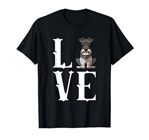 Divertido perro Schnauzer en miniatura Love-r Camiseta