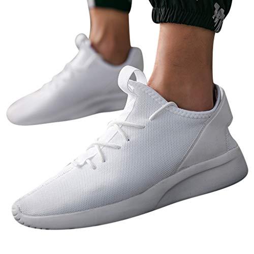 Sumeiwilly Herren Hohe Hilfe Laufschuhe Männer Weben Sportschuhe Socken Schuhe Weiche Sohle Turnschuhe Sneaker Mode Rund Zeh Flach Freizeitschuhe Größe 39-47