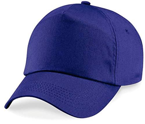 ShirtInStyle-Berretto unisex con chiusura in velcro, CAP2X001Purple, porpora, Unisex