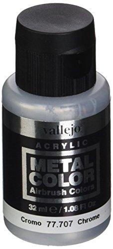 acrylicos Vallejo (32ml Metall Farbe–Chrom
