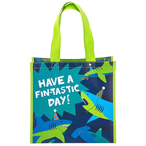 Stephen Joseph Kids Medium Recycled Gift Bag, Shark
