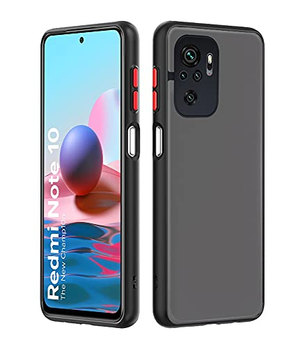 Pikkme Redmi Note 10 / Redmi Note 10s Smoked Cover Protective Shockproof Matte Hard Back Case Cover for Redmi Note...