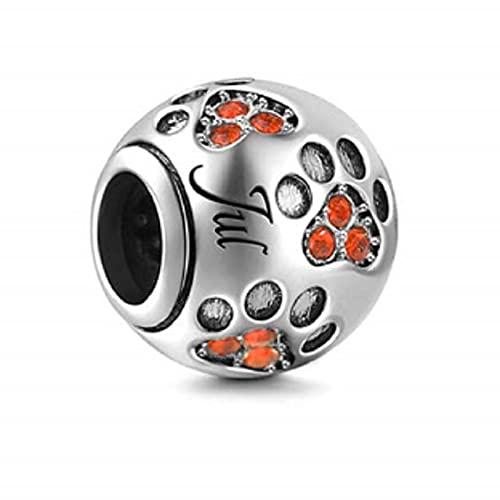 Pandora 925 Colgante de plata esterlina Diy Color plata Charm de piedra natal Ajuste original mm Pulsera y brazalete Fabricación de joyería de moda para mujeres Julio