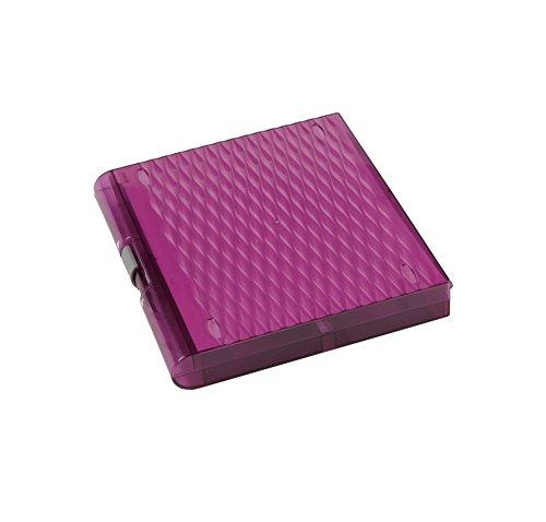 Heathrow Scientific 120592 Premium Plus Microscope Slide Box, 100 Slides, Slide Storage Box, Removable Inventory Card, Purple (Pack of 5)