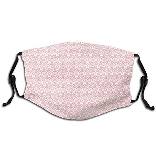 Bandana lavable de tela con diseño de moda para adultos y niños, con filtro y diseño de damasco inspirado en la escalera.