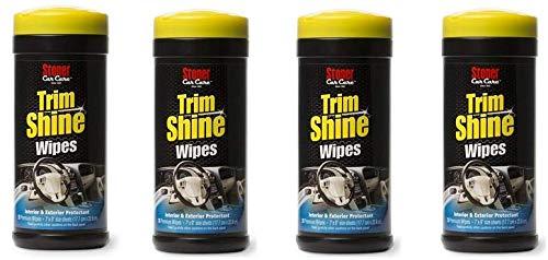 Stoner Car Care 90034 Trim Shine Protectant Wipes - 28-Count (4)