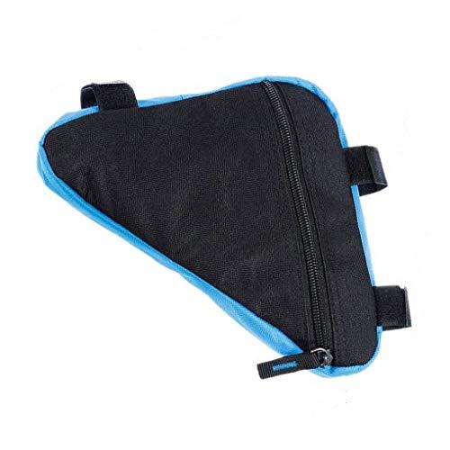 zhibeisai Cuadro Bicicleta Bolso triángulo,Bicicleta Impermeable Bolsa de Almacenamiento portátil Ciclismo Bolsa de Gran Capacidad del Bolso Manillar para Montar a Caballo al Aire Libre (Azul Negro)