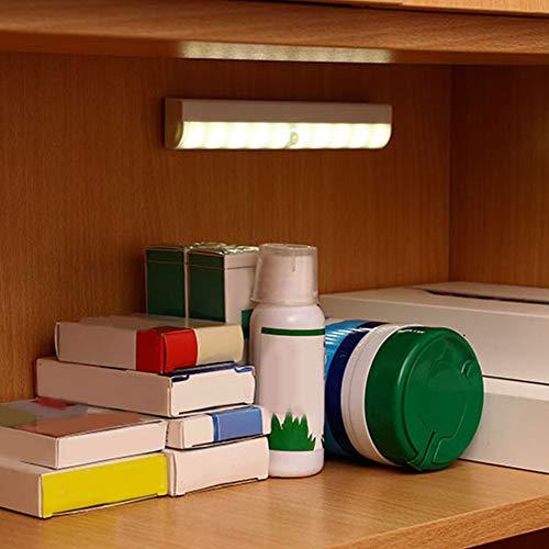 SALUTUY Luz Nocturna, Sensor PIR De Movimiento De Distancia De Inducción De 3-5 M, Luz De Escaleras para Escaleras, Cajones, Cocinas, Dormitorios, Armarios, Talleres
