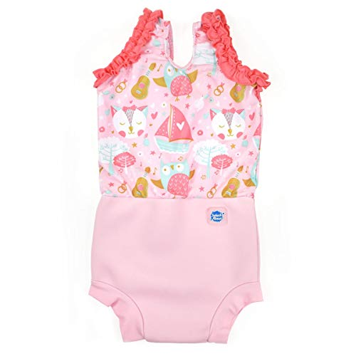 Splash About Baby Happy Nappy Costume XL Chouette et Chaton.