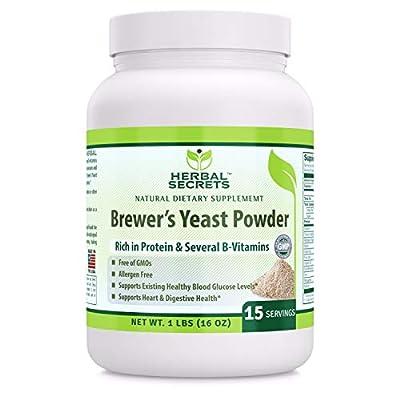 Herbal Secrets Brewer's Yeast Powder (16 oz) 1 lb Gmo-Free - Allergen Free - Supports Heart & Digestive Health by Herbal Secrets
