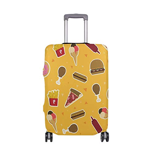 Cute Foods Ice Creams - Funda protectora para maleta de viaje, licra, para adultos, mujeres, hombres, adolescentes, se adapta a 18-20 pulgadas