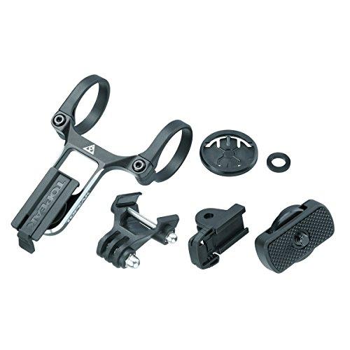 Topeak RideCase Center Mount with SC & G-Ear Adapters Fahrrad-Adapter Unisex Erwachsene (Schwarz), 12 x 6,6 x 4,7 cm