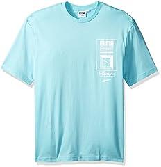 Puma Camiseta de Manga Corta con Logo de la Torre para Hombre