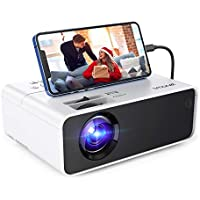 Smonet F-SMUS-102T Full HD 1080p 5000-Lumens Portable Projector with HDMI, USB, MHL