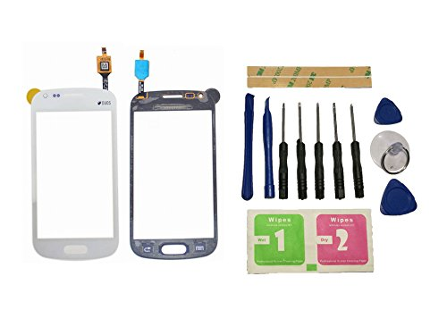 Flügel para Samsung Galaxy Trend Plus S7580 S7582 Pantalla de Cristal Táctil touchscreen glass display Blanco( Sin LCD)de Recambio & Herramientas