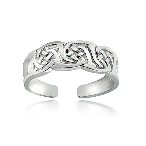Hoops & Loops Sterling Silver Irish Celtic Knot Toe Ring Unisex