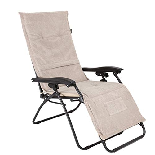 Cojines de Asiento Cojín Floding Sun Lounge - Jardín portátil Patio Acolchado Cama Reclinable Silla de relajación Funda de Asiento for Viajes*1pcs (Color : Beige, Size : 158 * 49cm)