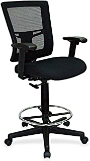 Lorell Breathable Mesh Drafting Stool, 73 Height X 31 Width X 38 Length