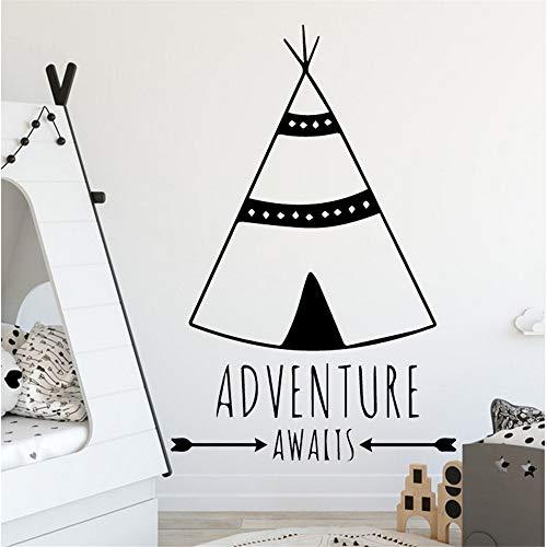 Zlxzlx Custom stam Tent Home Decoraties PVC Decal voor Kinderen Kamer Decoratie Accessoires Muralen 43 * 63Cm
