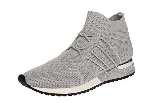 La Strada 1705464 - Damen Schuhe Sneaker - 4502-lt.-Grey-Knitt, Größe:38 EU
