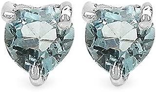 Kleine helblaue Edelstein Ohrstecker Blautopas 925 echt Silber Ohrringe neu