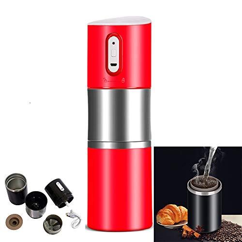 MAIZOU Draagbare Koffiemachine USB Opladen Koffiemolen Koffiemachine Koffiebonenmolen Roestvrijstaal Espressomachine Geschikt voor thuis, kantoor, winkel, keuken