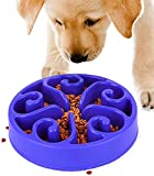 Gamelle Anti Glouton Chiens - Gamelle D'alimentation Lente pour Chiens, Antidérapante en Forme de Labyrinthe pour Animal Domestique, Favorise Une Alimentation Saine et Une Digestion Lente (Bleu 2)