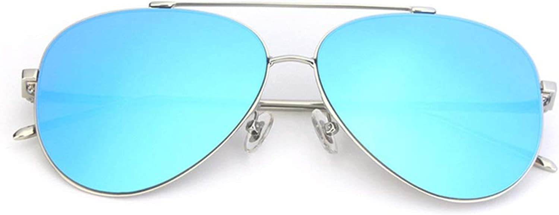 BLWX  Street Shooting Myopia Sunglasses Men and Women Stars with Retro Round Face Big Face Universal Ultra Light Sunglasses Sunglasses (color   F)