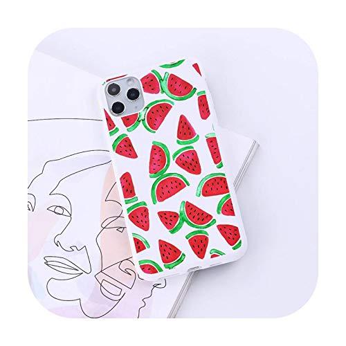 Sandia verano fruta teléfono caso caramelo color para iPhone 6 7 8 11 12 s mini pro X XS XR MAX Plus-a3-7plus o 8plus