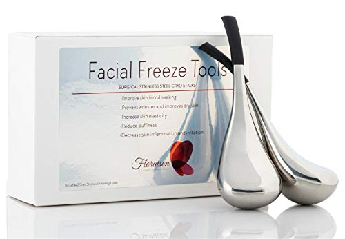 Floraison Unbreakable Stainless Steel Magic Cooling Beauty Facial Sticks for Face, Neck & Body Cryo Sticks & Cold Roller for face Puffiness & Wrinkles, Wine-Chilling Wands